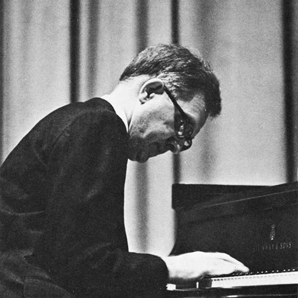Anthony Kooiker playing a Steinway piano, 1969