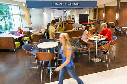 Common Grounds cafe in DeWitt Learning Commons