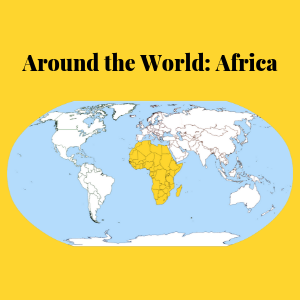 World map with Africa highlighted