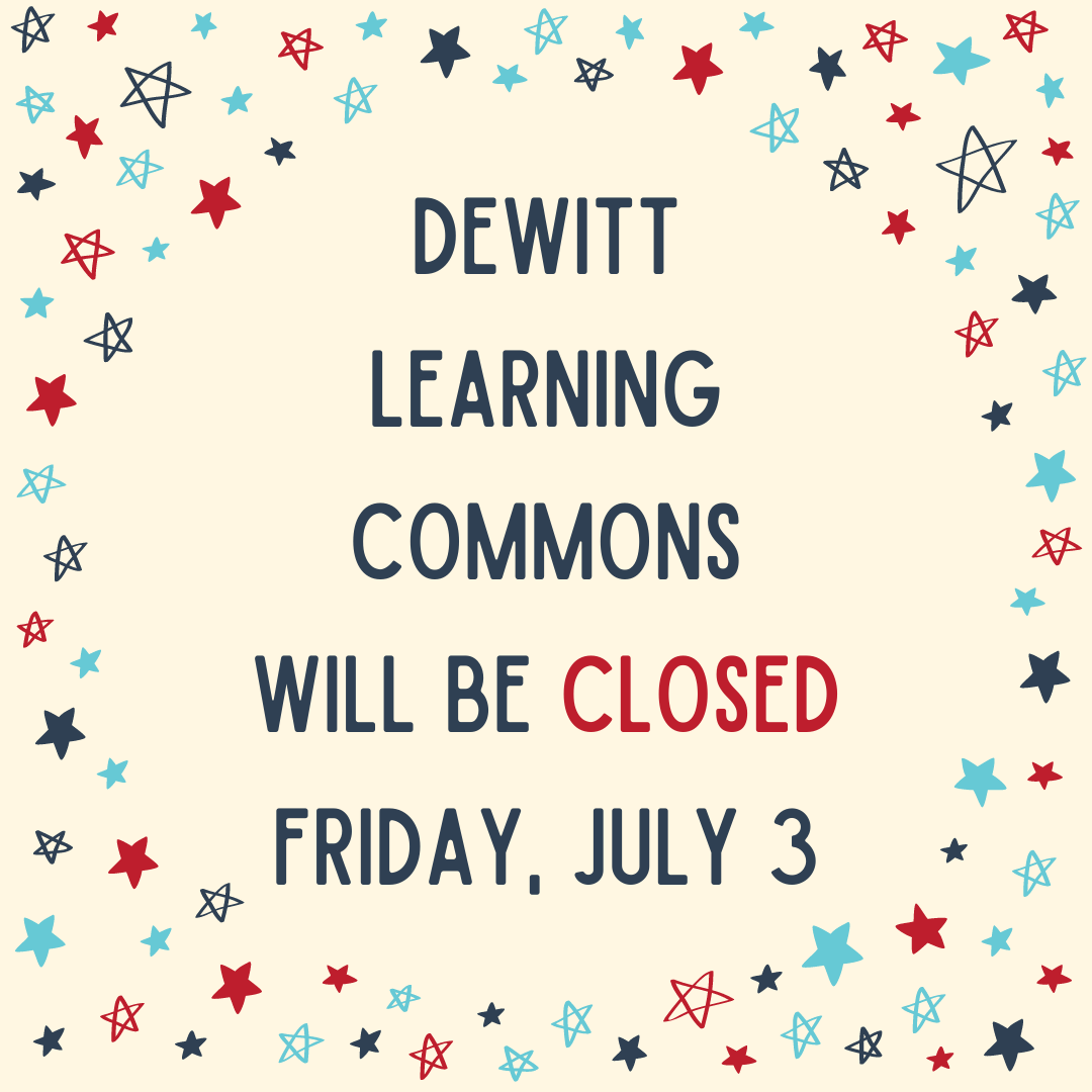 Please note that we will be closed July 4-7