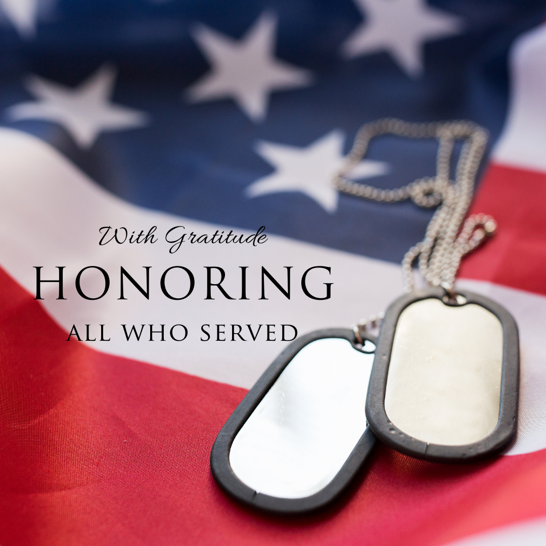 veterans day flag dog tag image